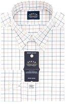 Eagle Men's Non Iron Flex Collar Regular Fit Large Tattersall Buttondown Collar Dress Shirt