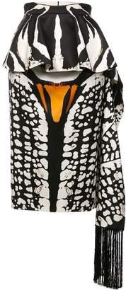 Alexander McQueen Animal Print Pencil Skirt