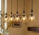 Pottery Barn Rustic Glass 5-Light Pendant