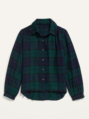 Old Navy Button-Front Plaid Top for Girls