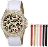 XOXO Women's XO9040 Seven Color Snake-Embossed Interchangeable Strap Set Watch