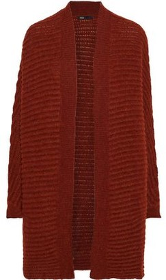 Maje Oversized Brushed Ribbed-knit Cardigan