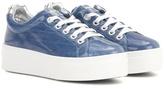 Kenzo Platform Coated Denim Sneakers