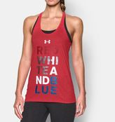 Under Armour Women's UA Red White Blue Tank