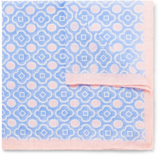 Anderson & Sheppard Printed Cotton-Voile Pocket Square