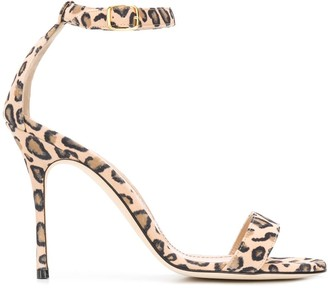 Manolo Blahnik Chaos leopard sandals