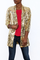 Fabulous Furs Sequin Gold Blazer
