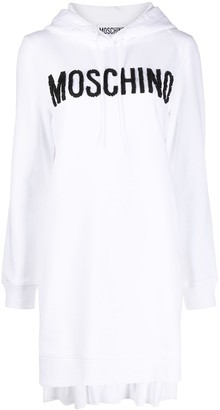 Moschino Logo Detail Hooded Dress