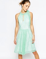 Traffic People Never Ending Story Halter Dress With Pleated Skirt