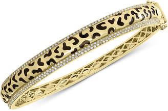 Effy Diamond Animal Pattern Bangle Bracelet (3/4 ct. t.w.) in 14k Gold