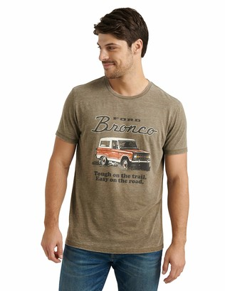 Lucky Brand Men's Short Sleeve Crew Neck Bronco Tee
