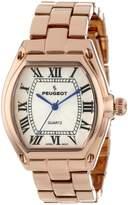 Peugeot Women's 7069RG Rose Gold Roman Numeral Bracelet Watch