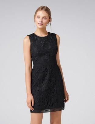 Forever New Callista Lace Trim Dress - Black - 6