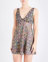 Free People Forget Me Not floral-mesh slip