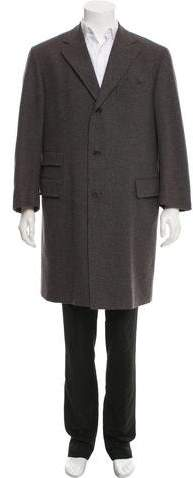 Salvatore Ferragamo Virgin Wool Notch-Lapel Overcoat