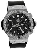 Hublot 301.SM.1770.GR Big Bang Carbon Dial On Rubber Strap 44mm Diamond Watch