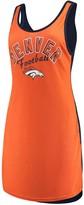 G Iii Women's G-III 4Her by Carl Banks Orange/Navy Denver Broncos Making Waves Fair Ball Cover Up