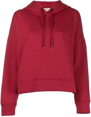 Moncler logo drawstrings hoodie
