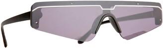Rad + Refined Cyberfunk Sport Flat Top Shield Sunglasses