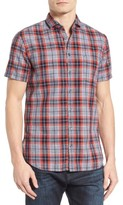 BOSS ORANGE Men's Cattitude Plaid Woven Shirt