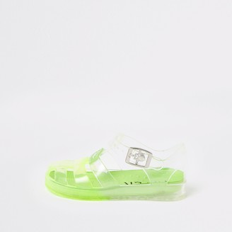River Island Mini boys Green Prolific jelly sandals