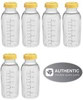 Medela Breastmilk Collection Storage Feeding Bottle Set with Lids (6 Bottles and 6 Lids) W/lid 8oz /250ml by