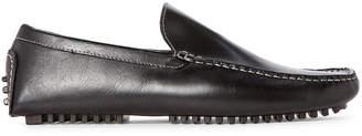 Donald J Pliner Black Vic Leather Drivers