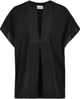 By Malene Birger Verzalio silk-trimmed stretch-crepe top