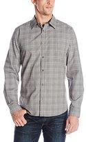 Calvin Klein Men's Gingham Dobby Long Sleeve Woven Shirt