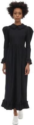 Batsheva Long Prairie Cotton Poplin Dress