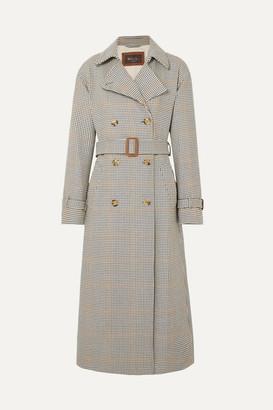 Loro Piana Houndstooth Wool Trench Coat - Neutral
