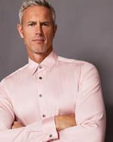 Ted Baker Satin stretch cotton-blend shirt