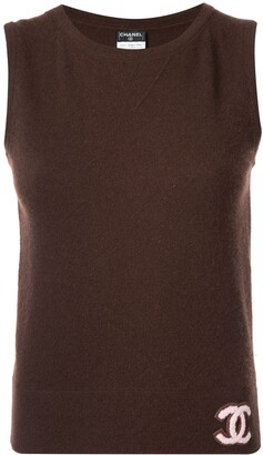 Chanel Pre Owned Sleeveless Cashmere Top