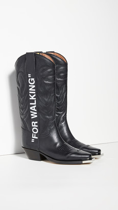 "Off-White Off White ""For Walking"" Cowboy Boots"