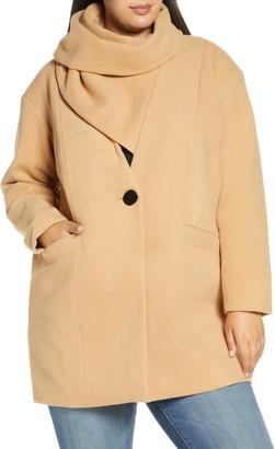 ELOQUII Scarf Collar Coat