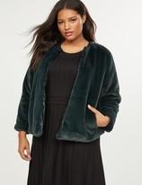 Lane Bryant Faux Fur Jacket