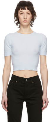 Acne Studios Blue Light Short Sleeve Sweater