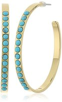 Rebecca Minkoff Beaded Hoop Earrings