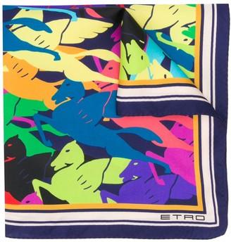 Etro Pegasus-Print Scarf