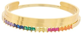 Eye Candy Los Angeles Eye Candy La Luxe Collection 18K Plated Cz Set Of 3 Adjustable Bracelets