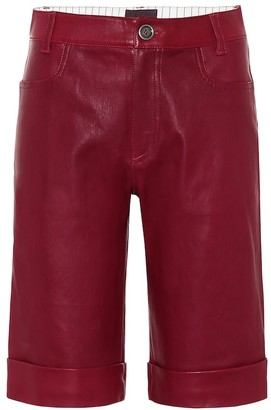 STOULS Sophie leather bermuda shorts