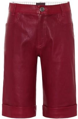 STOULS Sophie leather bermuda shorts