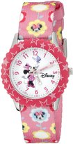 Disney Kids' W000031 Minnie Mouse Stainless Steel Time Teacher Watch