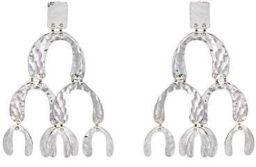 Proenza Schouler Women's Oversized Tiered-Drop Earrings - Silver