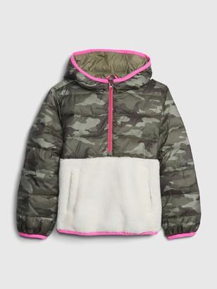 Gap Kids Lightweight Sherpa Puffer Jacket