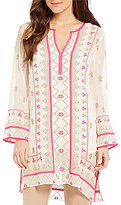 Sigrid Olsen Signature Embroidered Woven Tunic