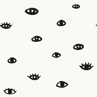 west elm Bobby Berk for Tempaper - Eye See You Removable Wallpaper