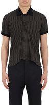 Balenciaga Men's Striped Cotton Piqué Polo Shirt