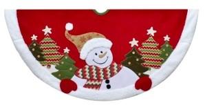 Kurt Adler 48-Inch Velvet Snowman Tree Skirt