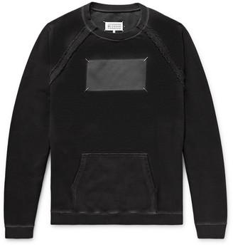 Maison Margiela Oversized Embroidered Printed Loopback Cotton-Jersey Sweatshirt